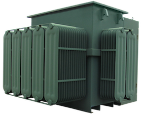 Green Transformer Box with Transparent Background